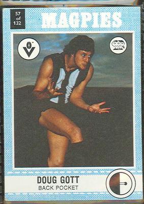 1977 Scanlens VFL Football Doug Gott trade card