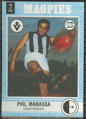 1977 Scanlens VFL Football Phil Manassa trade card