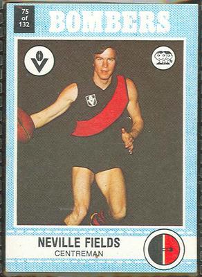 1977 Scanlens VFL Football Neville Fields trade card