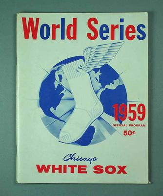 Official Program - World Series 1959 Chicago White Sox