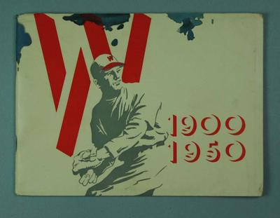 Limited Edition book  no. 356 - 50th Anniversary of the Waverley District Baseball Club - 1900-1950.