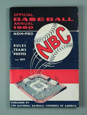 Booklet - Official Baseball Annual 1960 - published by the National Baseball Congress of America