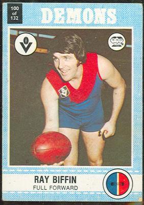 1977 Scanlens VFL Football Ray Biffin trade card