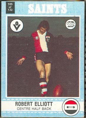 1977 Scanlens VFL Football Robert Elliott trade card