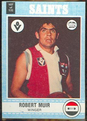 1977 Scanlens VFL Football Robert Muir trade card
