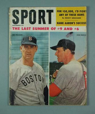 Sport Magazine, September 1959, Vol. 28, No. 3