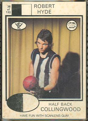 1975 Scanlens VFL Football Robert Hyde trade card