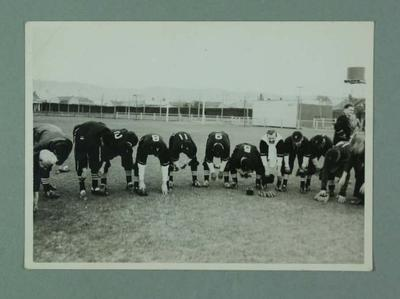 Two identical black and white photographs, 1947 Victorian State Baseball team and officials