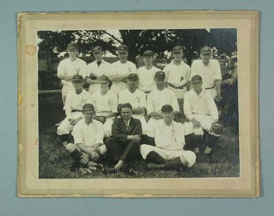 Black and white  photograph, Victorian Baseball team captained by Ern Baster, c1920s; Photography; 1986.1288.7