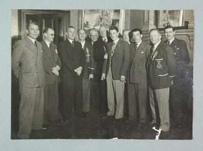 Black and white group photograph,  N.S.W. Baseball Union and other state baseball officials and associates.