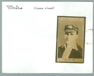 Trade card featuring William Rowe, Wills Cigarettes c1930s