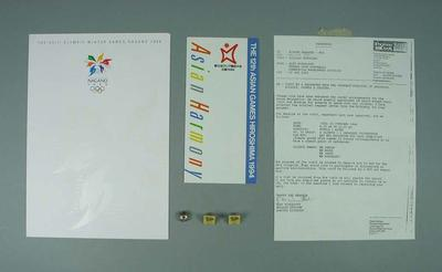 Gifts received from Japanese delegation visiting re their 2004 Olympic Games Bid
