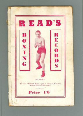 Booklet, Australian Boxing Annual 1945