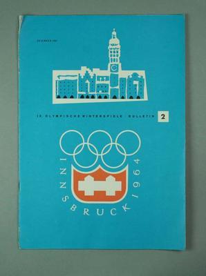 Magazine - ' IX. Olympische Winterspiele Bulletin' - Bulletin # 2