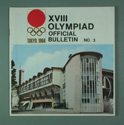 Magazine - XVIII Olympiad Official Bulletin, No. 3