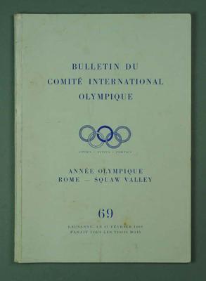 magazine - 'Bulletin du Comite International Olympique' - No. 69