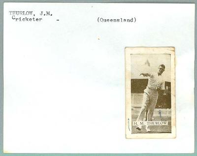 Trade card featuring Hugh Thurlow, Wills Cigarettes c1930s