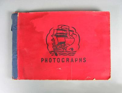 Two photograph albums, containing images of boxers c1940s