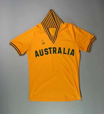 Softball uniform, worn by Australian women c1983