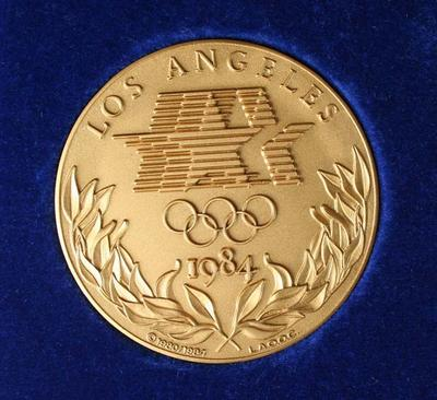 Participants Medal & Case - 1984 Olympic Games, Los Angeles