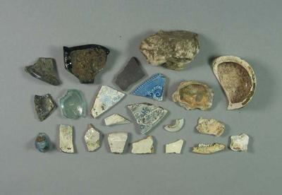 Archaeological material found in Yarra Park, circa 1987-98