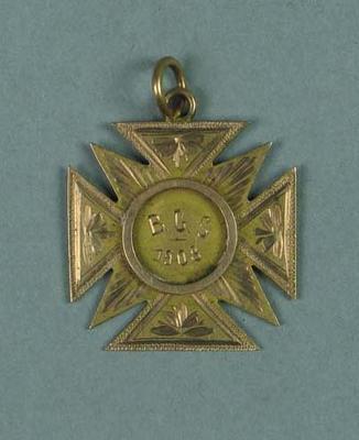Medal won by Ivan Stedman, B.S.C. Junior Swimming Champion 1908