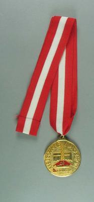 Medal - Melbourne Marathon/Qantas - Brian Dixon collection; Trophies and awards; 1998.3352.10