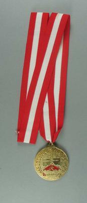 Medal - Melbourne Marathon, Qantas - Brian Dixon collection; Trophies and awards; 1998.3352.13