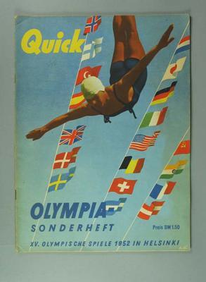 """Magazine, """"Quick / Olympia Sonderheft"""" 1952"""