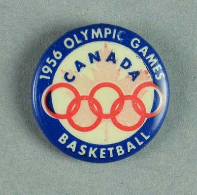 Canadian basketball  Olympic Team badge worn at the 1956 Melbourne Olympic Games