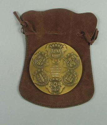 Medallion - Gift to Brian Dixon from Municipalities of the District of Bracanga Portugal