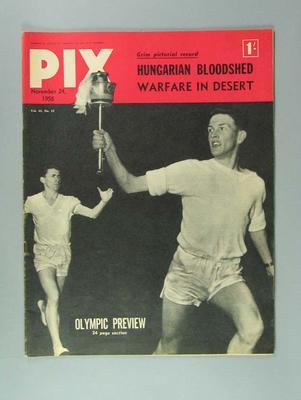"Magazine, ""Pix"" vol 43 no 12, 24 Nov 1956"