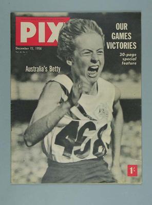 """Magazine, """"Pix"""" 15 Dec 1956"""