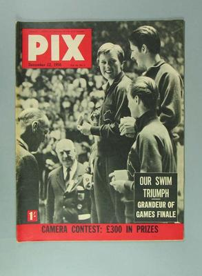 "Magazine, ""Pix"" 22 Dec 1956"