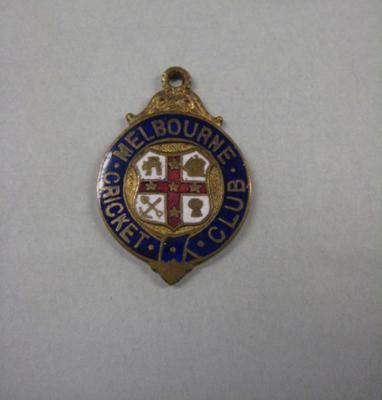 Melbourne Cricket Club Medallion, 1900/01