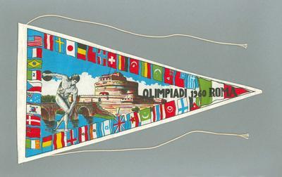 Pennant x 2 - Olimpiadi 1960 Roma - 1960 Rome Olympic Games,