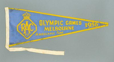 Pennant - RAC Vic,  Olympic Games, Melbourne 1956, Ambulance Fund