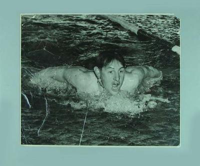 Photograph of John Birnie Marshall swimming