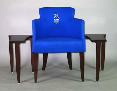 Chair & tables combination used for VIP guests during 2006 Melbourne Commonwealth Games
