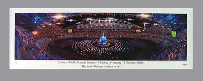 Poster & tube - Closing Ceremony, 2000 Sydney Olympic Games