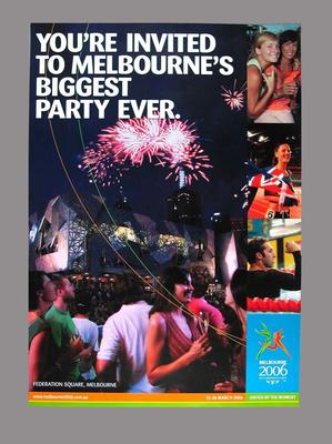 Poster - 'You're Invited to Melbourne's Biggest Party Ever' re 2006 Commonwealth Games