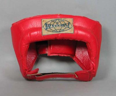 Boxing head protector, undated