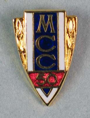 MCC 50 year membership stick pin which belonged to Leslie Kneale Caiteen