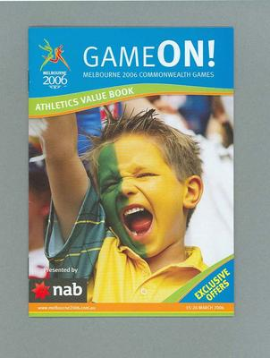 Booklet - 'Game On ! Athletics Value book - 2006 Melbourne Commonwealth Games