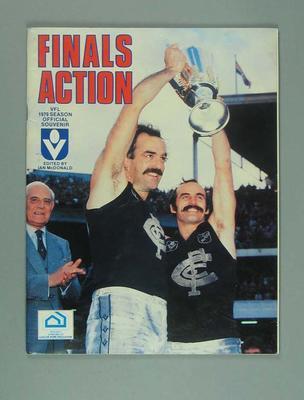 """Magazine, """"Finals Action"""" - VFL 1979 Season Official Souvenir"""