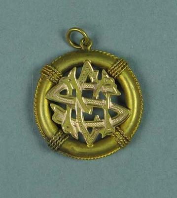 Gold medal won by Ivan Stedman, Melbourne Swimming Club - Seniors 1912-13