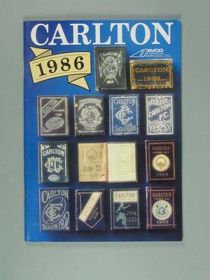 "Magazine, ""Carlton 1986""; Documents and books; 2006.4926"