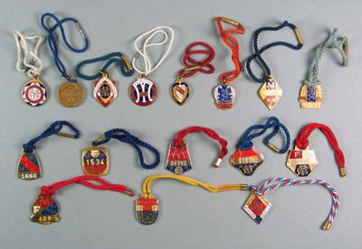 Forty-seven Melbourne Cricket Club medallions, seasons 1938/39 - 1990/91