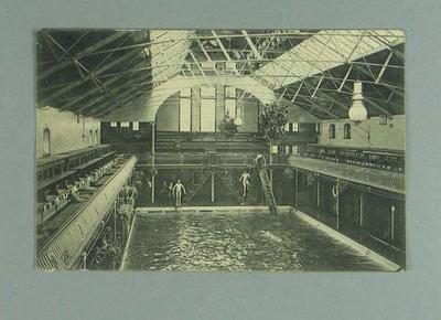 Postcard, image of Knightstone Baths - 6 Aug 1910