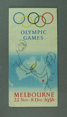 Pamphlet 'Olympic Games Melbourne' 22 Nov-8 Dec 1956; Documents and books; 1986.1273.2